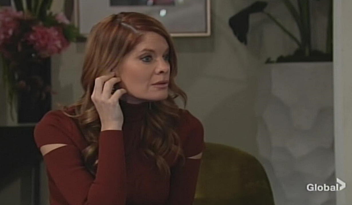 Phyllis listens in Young and Restless