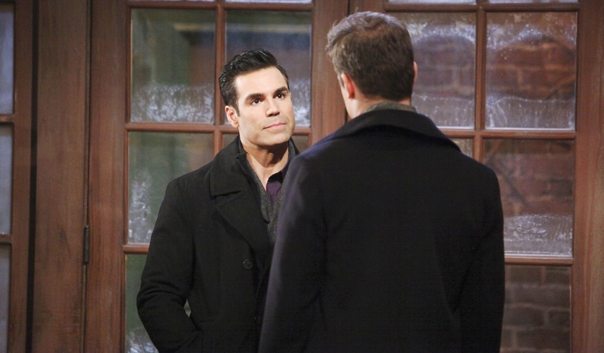 Rey interrogates Kyle Young and Restless