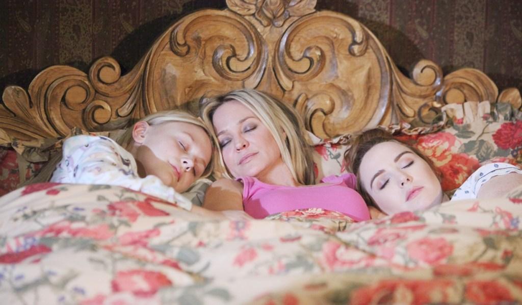 Sharon, Faith, Mariah asleep Young and Restless
