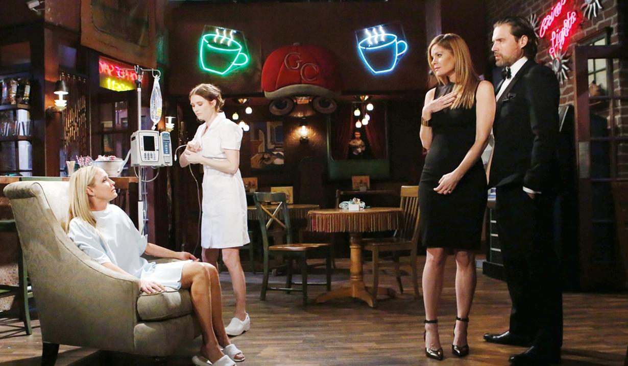 Sharon, Phyllis, Nick chemo Young and Restless