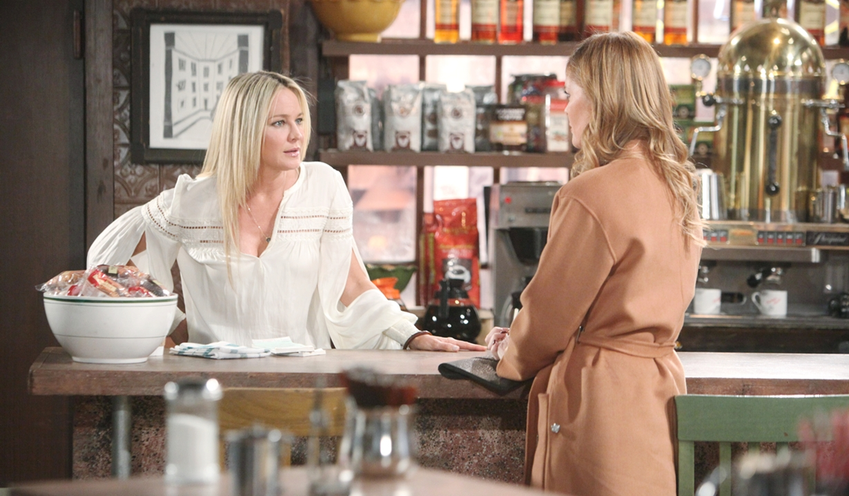 Sharon and Phyllis coffee house Young and Restless