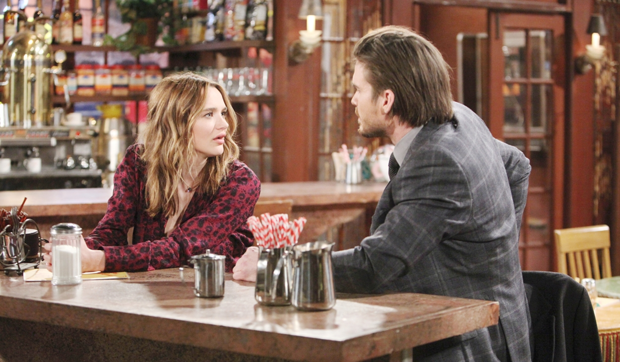 Summer, Theo questions Young and Restless