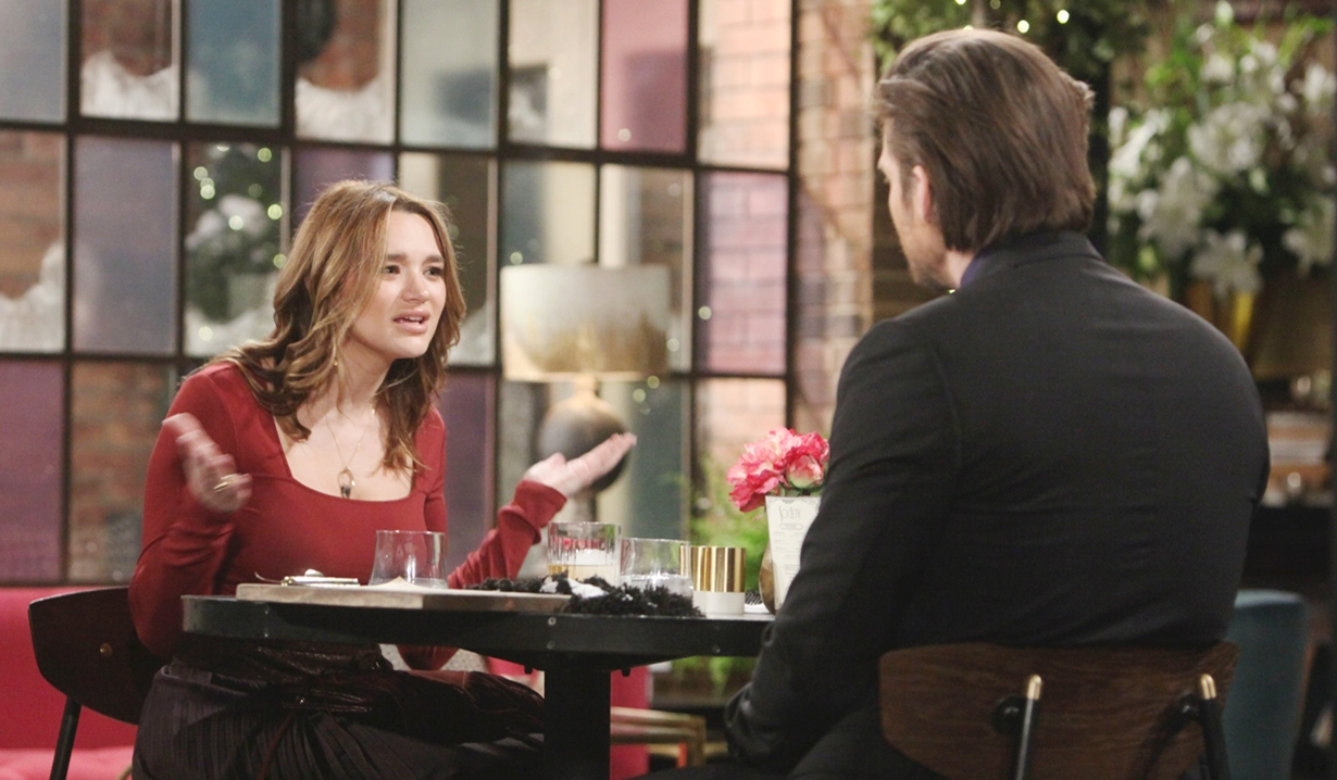 Summer and Theo at Social Young and Restless