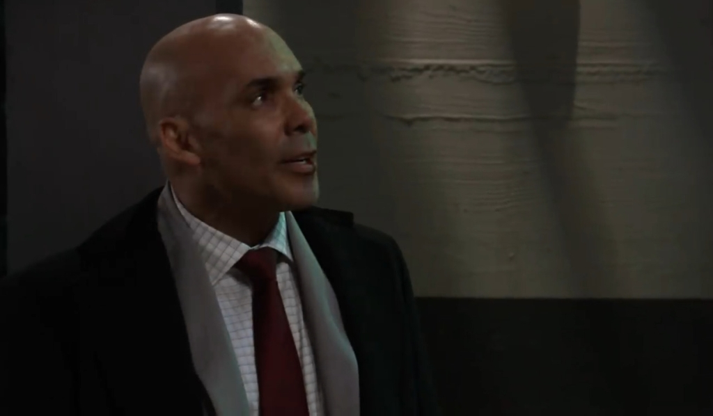 Taggert looks for Trina in warehouse General Hospital