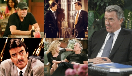 Victor Newman collage 40 years Young and Restless