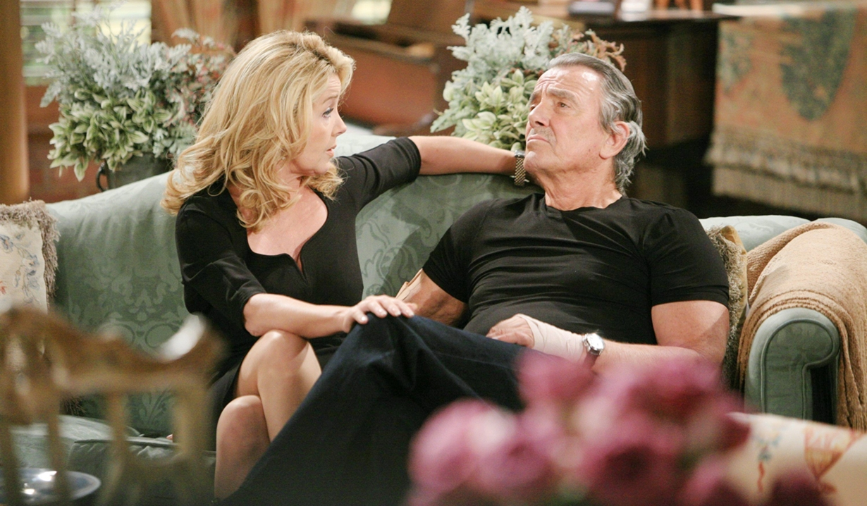 Victor and Nikki sofa Young and Restless