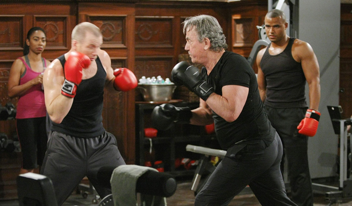 Victor, Stitch, Tyler boxing Young and Restless