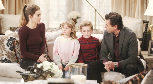 Victoria, Katie, Johnny, Billy talk Young and Restless