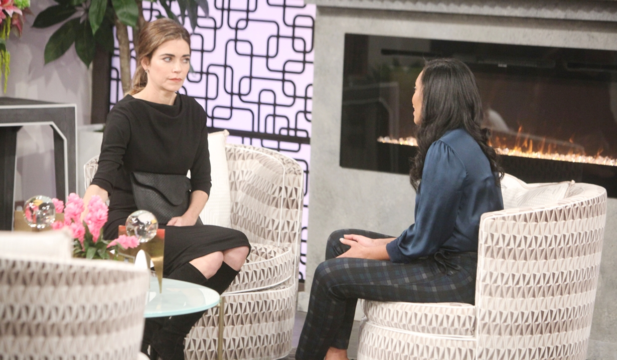 Victoria questions Amanda on Young and Restless