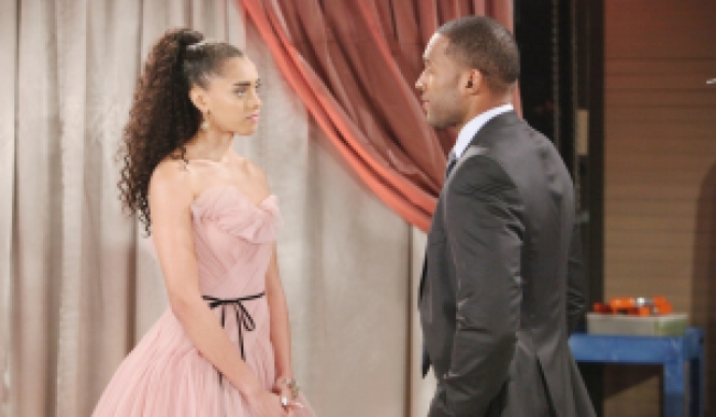 Zoe, Carter chat Bold and Beautiful