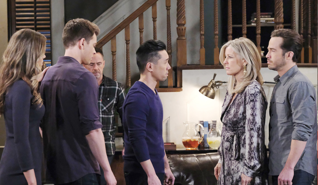 Carly is protective of Lucas with Brad on General Hospital