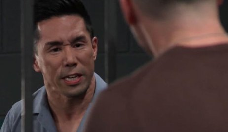 Brad Threatens Julian in Jail on General hospital