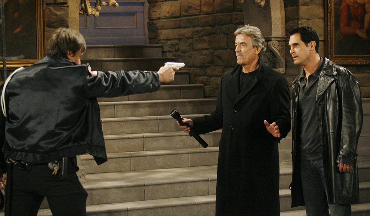 "Eric Braeden, Don Diamont ""The Young and the Restless"" Set CBS Television City Los Angeles 1/16/07 ©Brian Lowe/jpistudios.com 310-657-9661 Episode #8584"