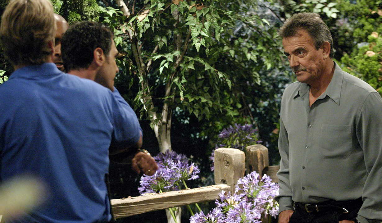 "Don Diamont and Eric Braeden ""The Young and the Restless"" Set CBS Television City 7/2/04 ©Brian Lowe/jpistudios.com 310-657-9661 Episode# 7936"