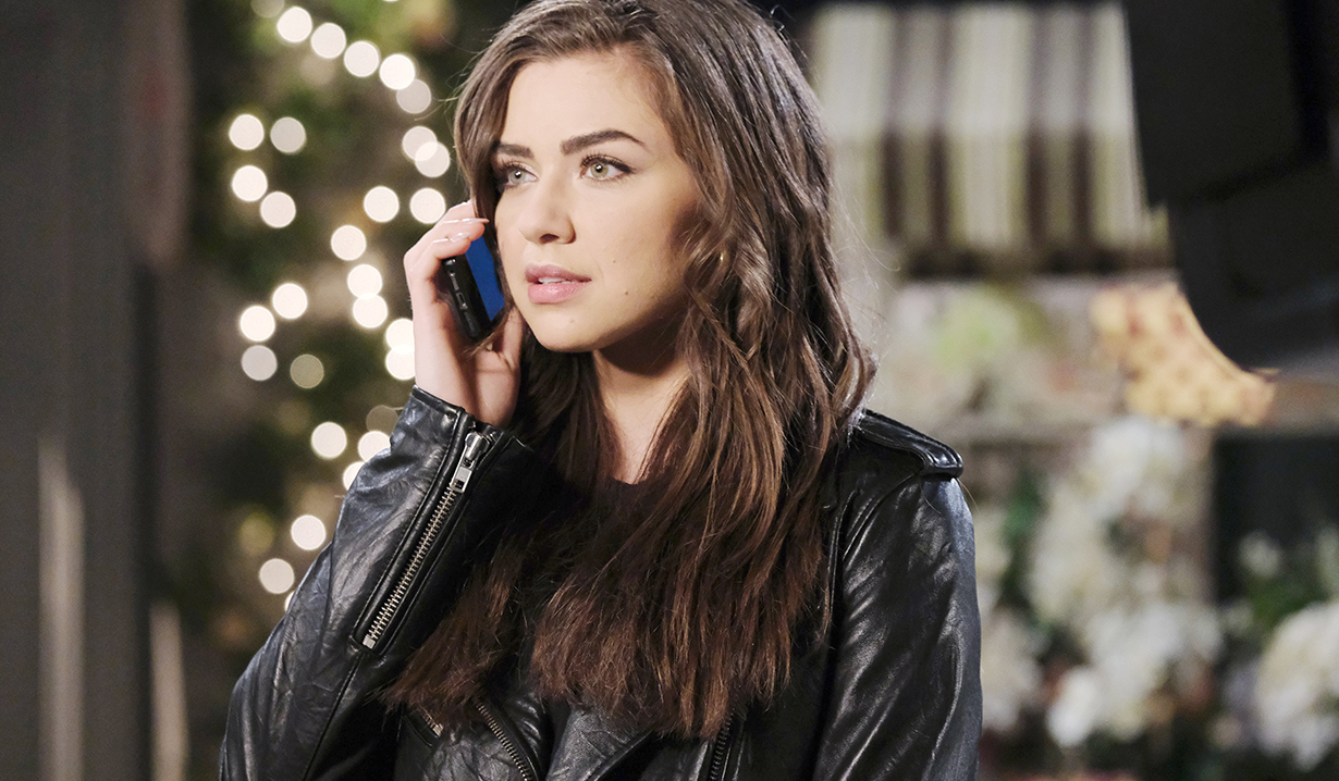 Ciara on a call at the square days of our lives