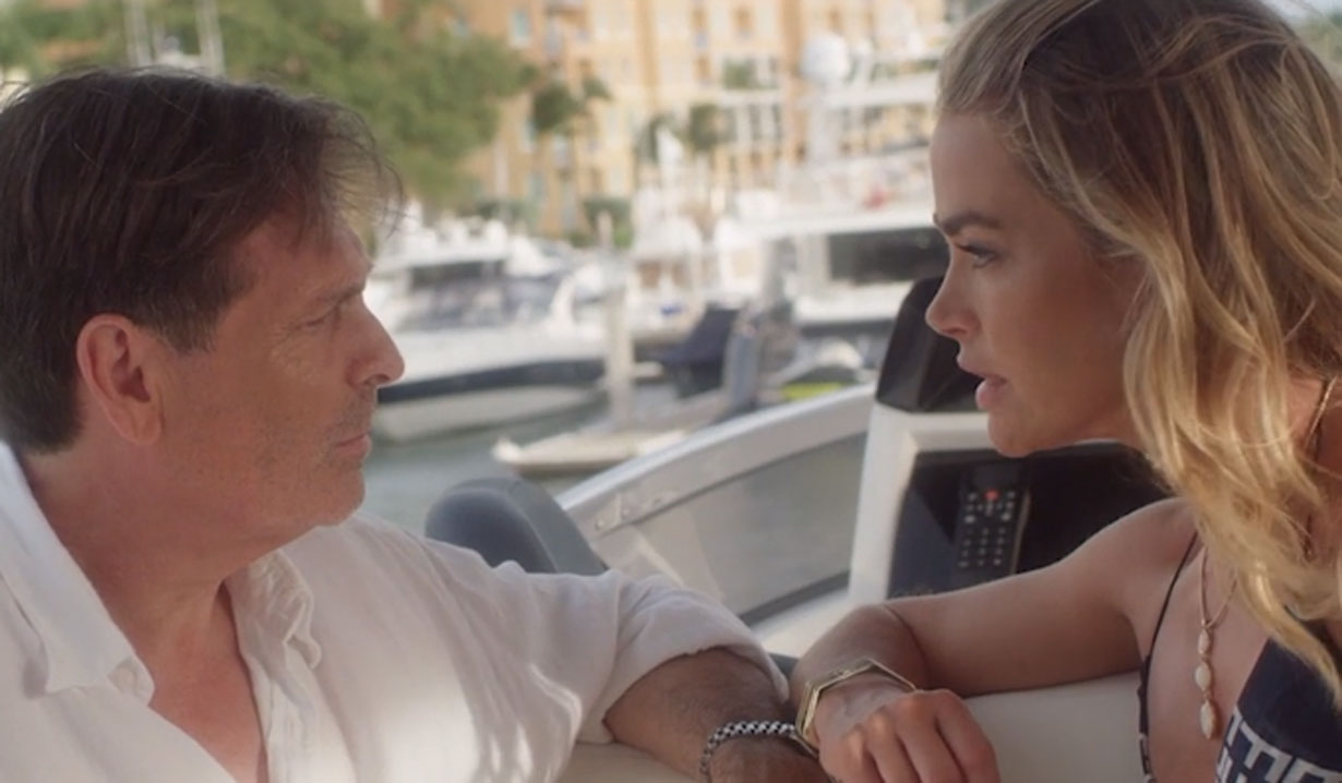 bold and beautiful denise richards on boat in paper empire