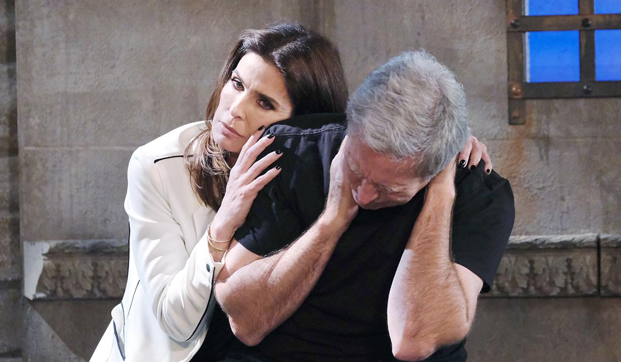 Princess Gina cuddling John while in the dungeon