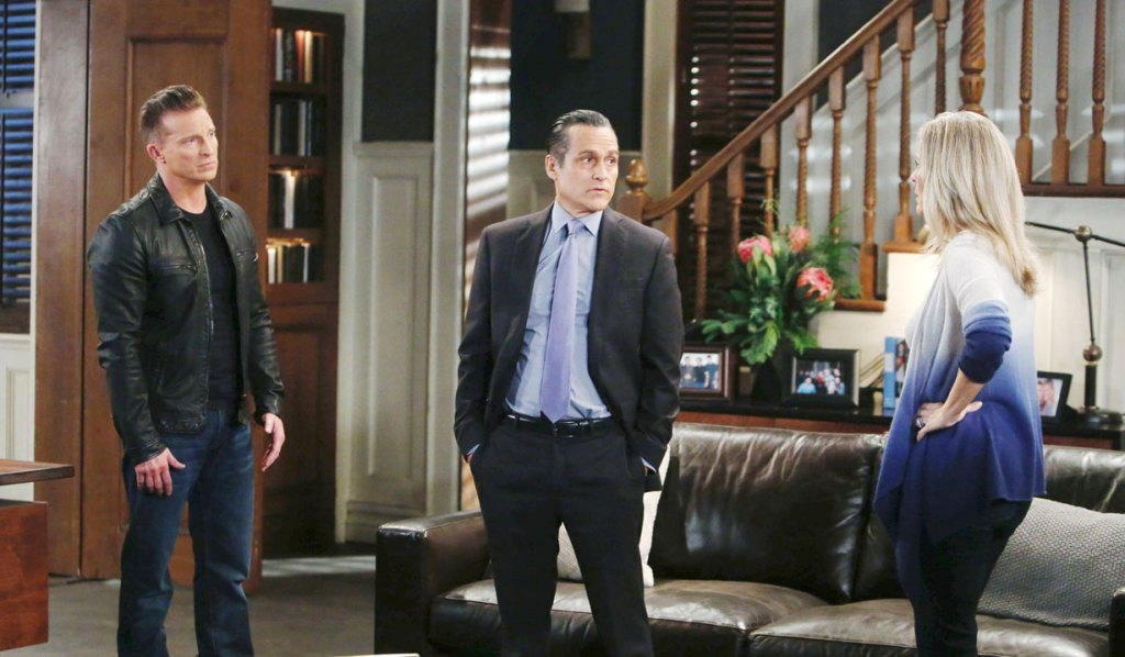 Jason Sonny and Carly discuss the turf war on General Hospital