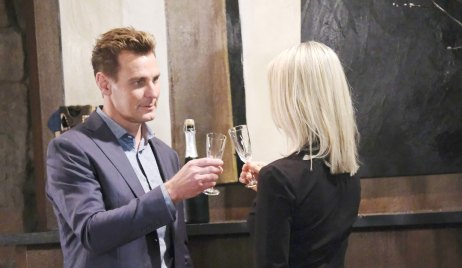 Jax and Nina toast on General Hospital