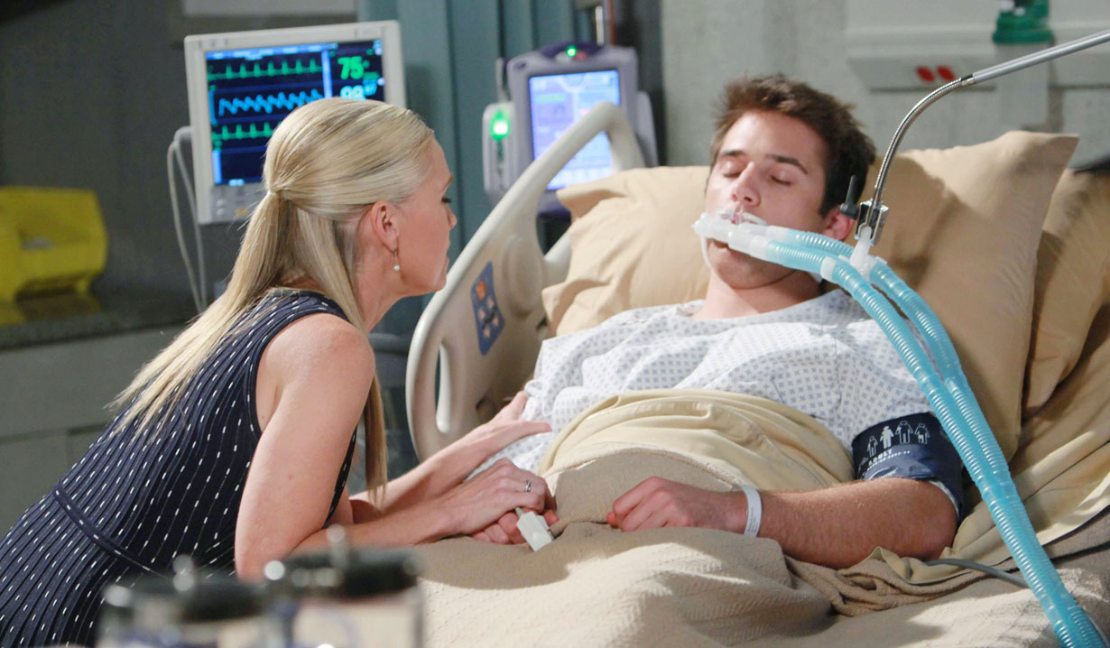 jenn sits by jj hospital bed after being shot days of our lives