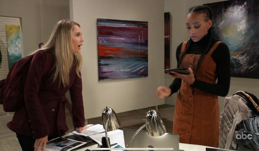 Joss warns Trina about Ava on General Hospital