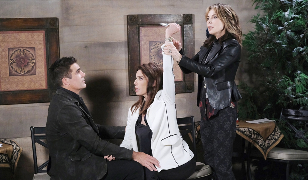 Rafe, Gina, Kate knife Days of our Lives