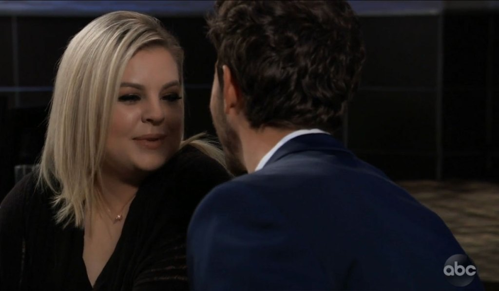 Maxie and Peter have breakfast on General Hospital
