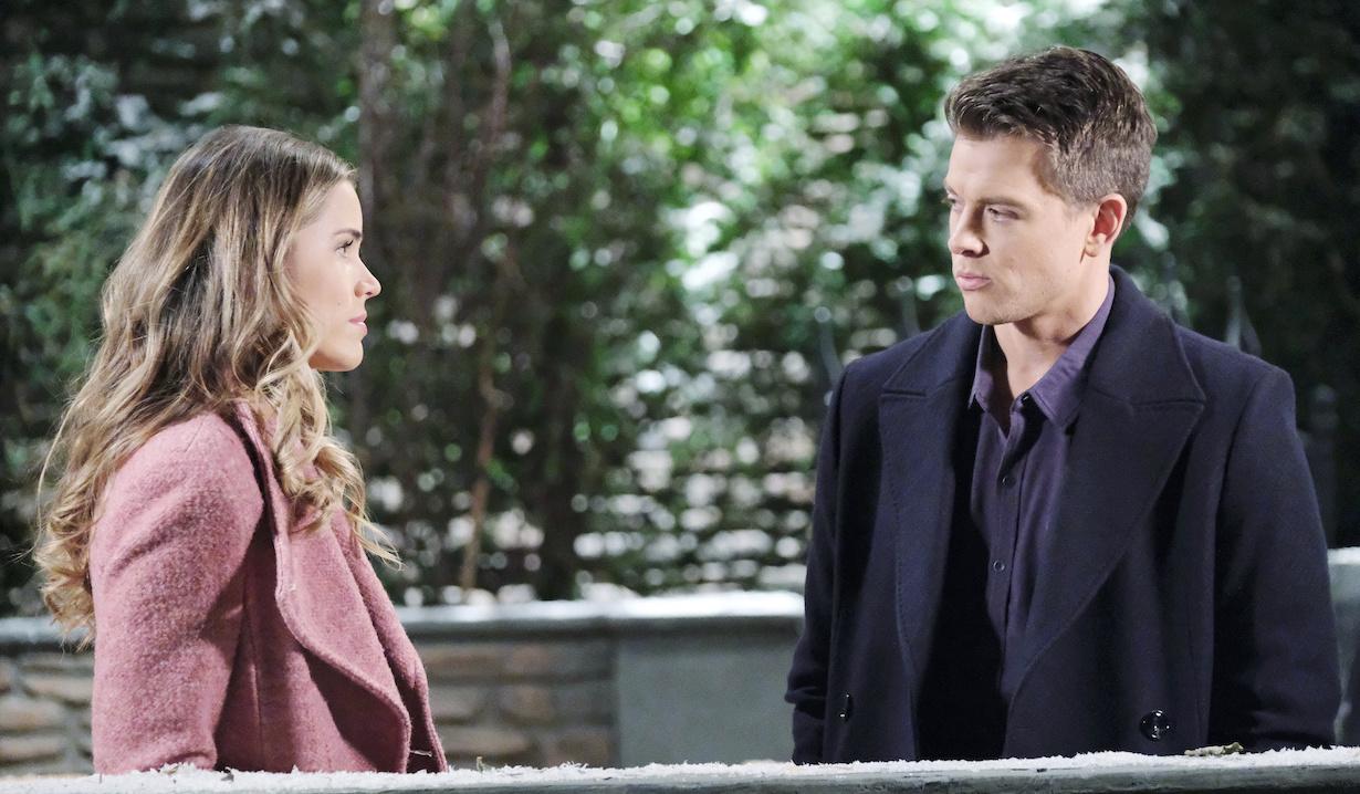 Sasha listens to Michael on General Hospital