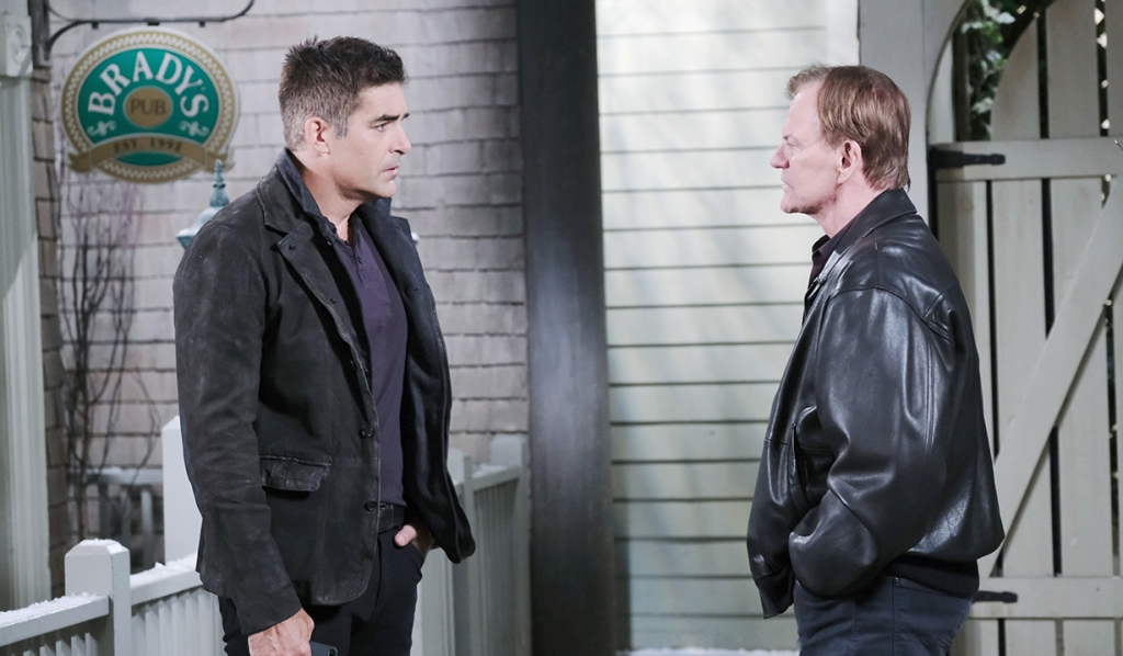roman and Rafe outside pub days of our lives