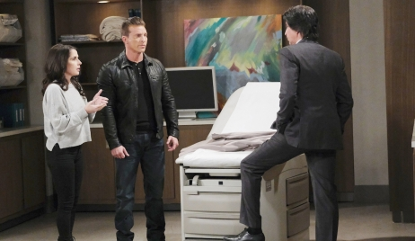 Finn meets with Sam and Jason on General Hospital