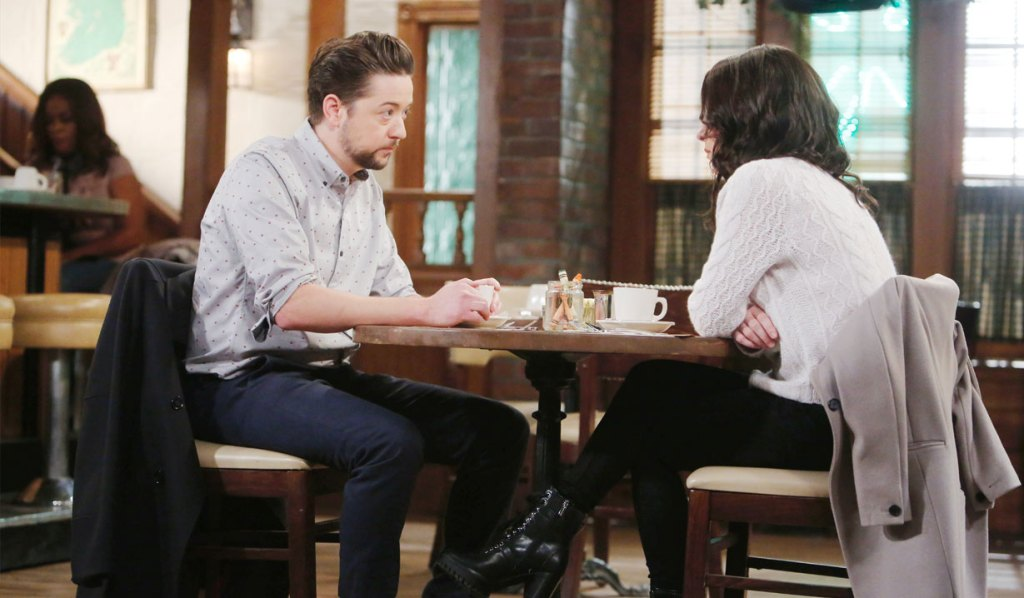 Spinelli meets with Sam on General Hospital