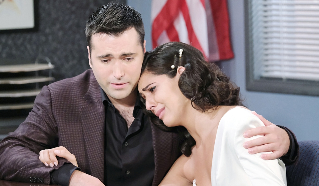 gabi cries to sonny days of our lives