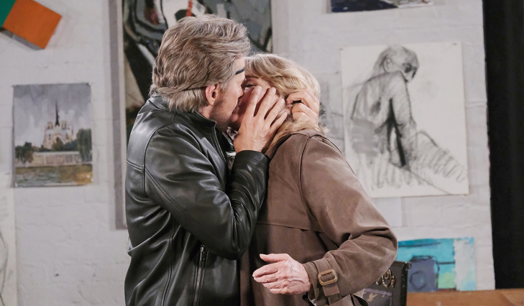stefano kisses marlena (hattie?) days of our lives