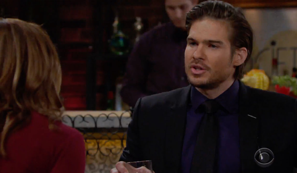 Theo and Summer discuss Summer and Kyle's kiss on Young and the Restless