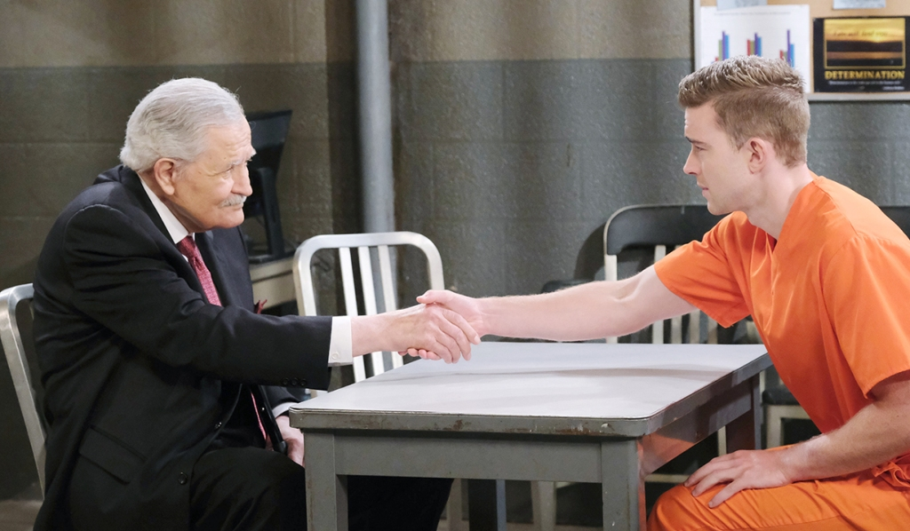 will shakes hands victor days of our lives