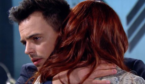 Wyatt embraces a dying Sally on Bold and the Beautiful