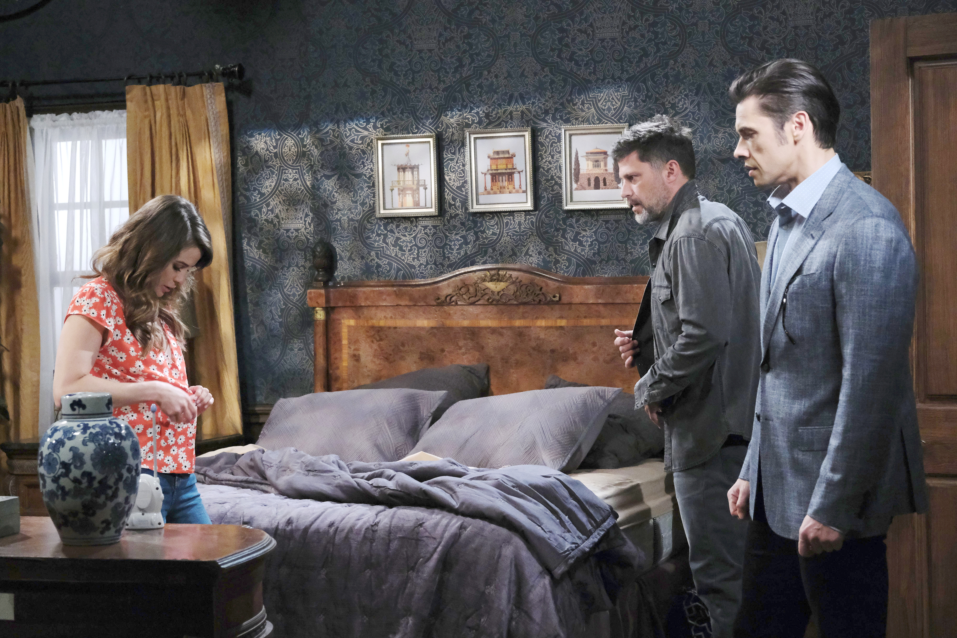 Eric, Sarah and Xander who walks in on them