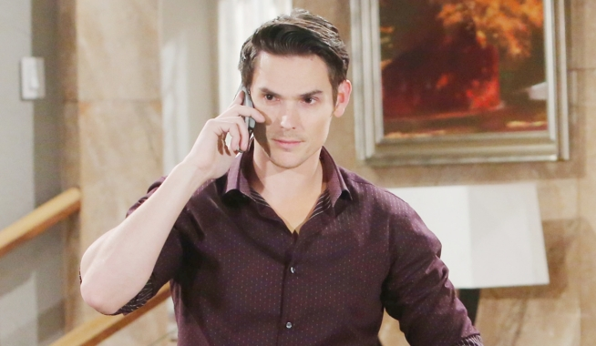 Adam blackmail plot Young and Restless