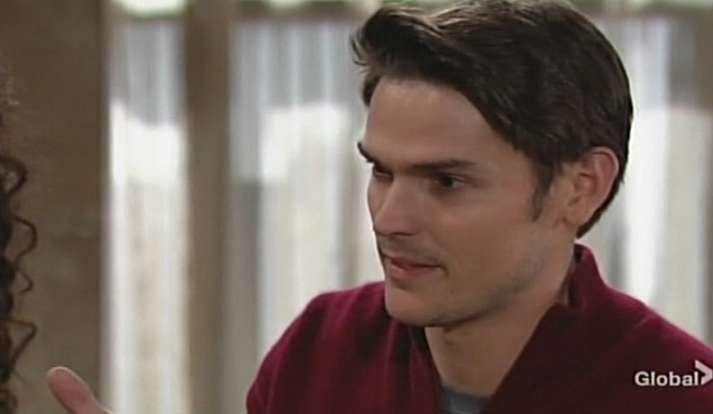 Adam goods on Victor Young and Restless