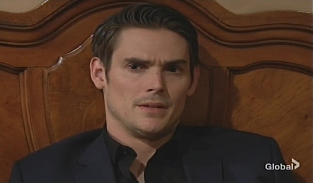 Adam odd look Young and Restless