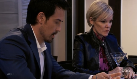 Nikolas and Ava discuss their relationship at Metro Court General Hospital