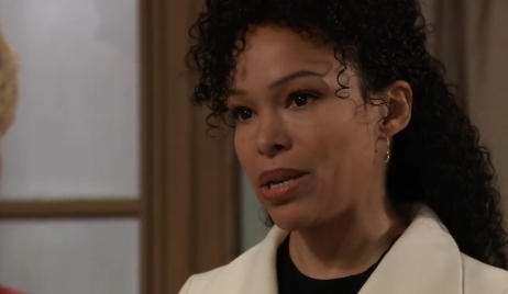 Portia tells Ava Trina is her daughter at General Hospital
