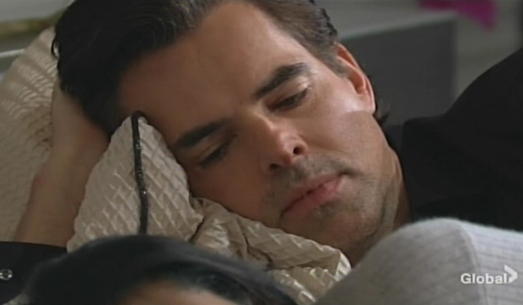 Billy watches Amanda sleep Young and Restless