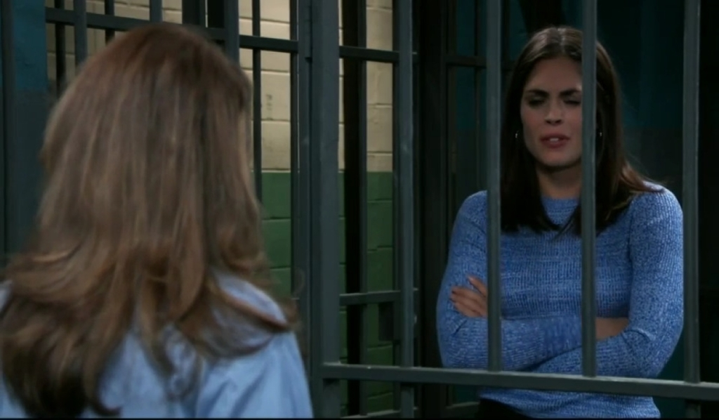 Britt and Obrecht discuss Peter in jail General Hospital
