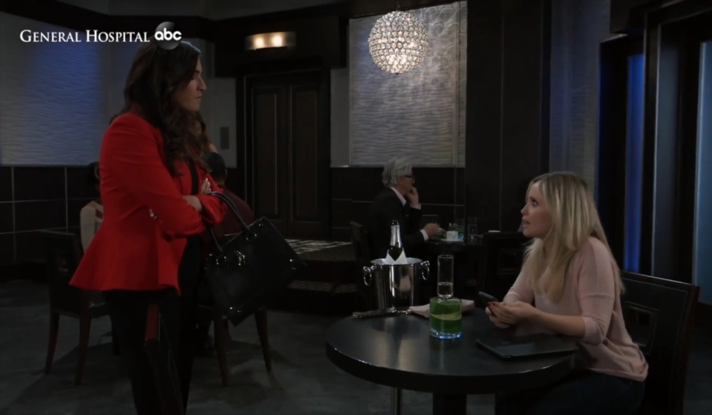 Brook Lynn confronts Lulu at Metro Court General Hospital