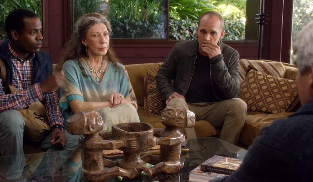 Bud, Coyote, Frankie, Sol share news Grace and Frankie