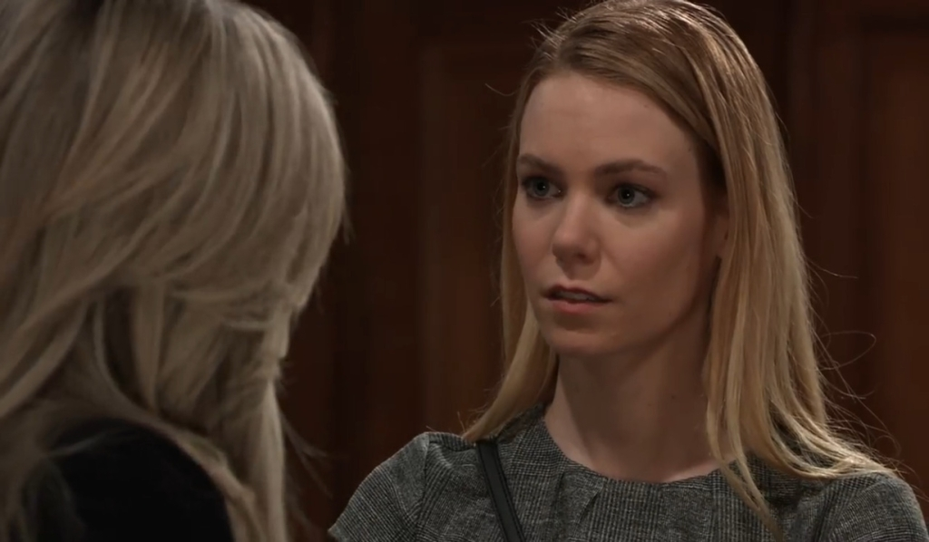 Carly threatens Nelle at court house General Hospital