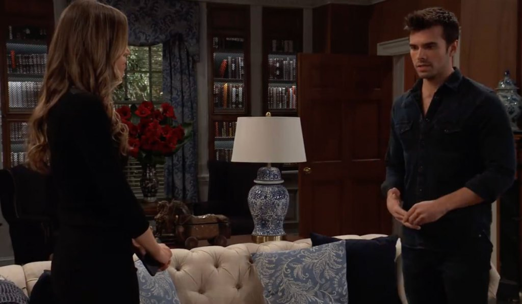 Chase worries to Sasha about Willow on General Hospital