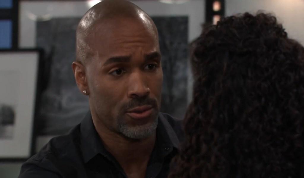 Curtis tries to reassure Jordan at home General Hospital