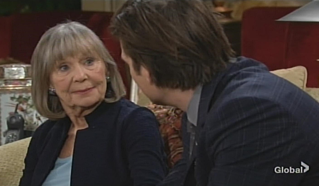 Dina reassures Theo Young and Restless
